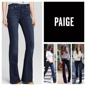 Paige High Rise Bell Canyon Flare Jeans size 24
